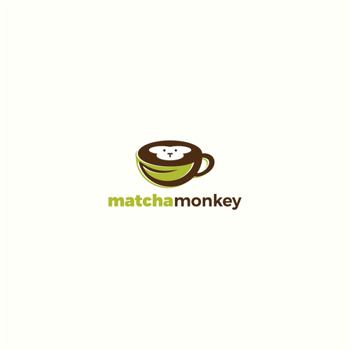 Matcha logo with the title 'Logo for Matcha Monkey'