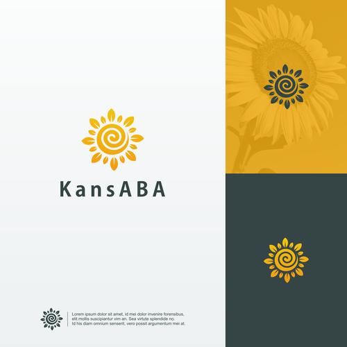 Sunflower logo with the title 'KansABA Logo'