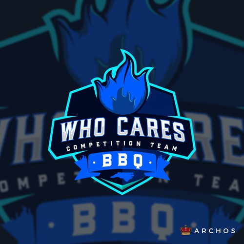 Banner logo with the title 'Who Cares BBQ'