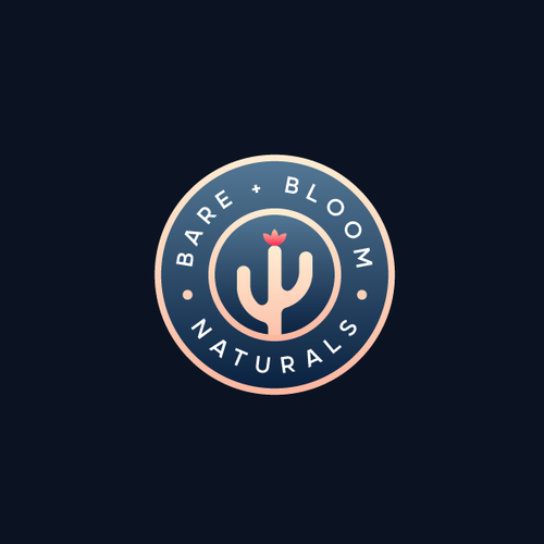 Cactus brand with the title 'Logo design for Bare+Bloom'