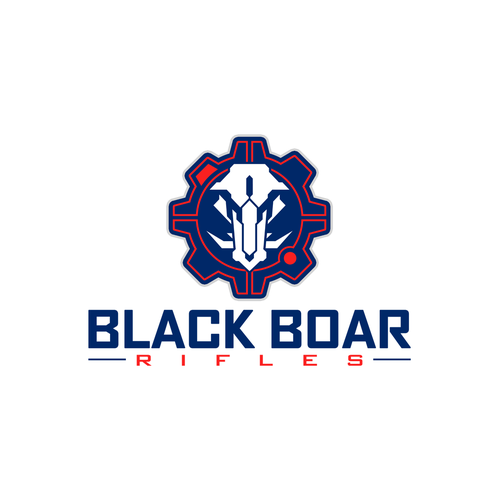 Camouflage logo with the title 'Logo design for Black Boar Rifles'
