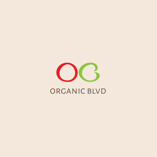 Radish design with the title 'Logo for 'Organic Blvd''