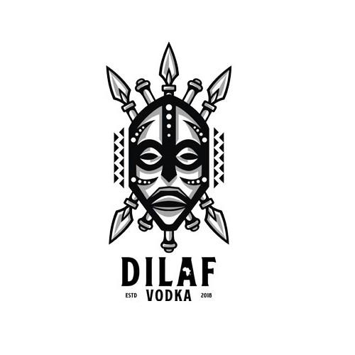 Vodka logo with the title 'Dilaf Vodka'
