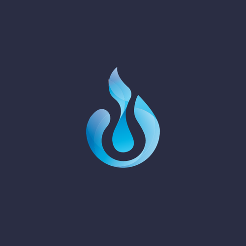 Trend logo with the title 'water drop and flame'
