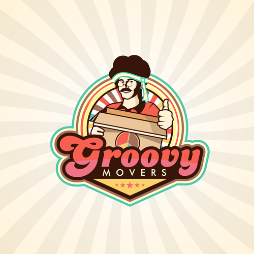 Full-color design with the title 'GROOVY MOVERS'