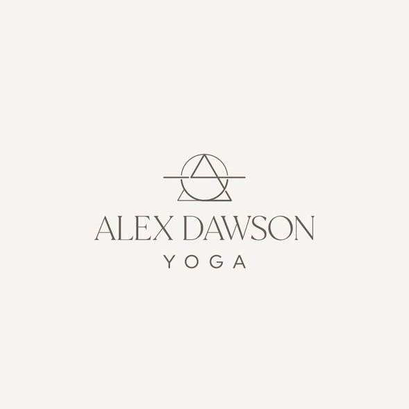 Yoga studio design with the title 'Contemporary spiritual logo for yoga teacher'