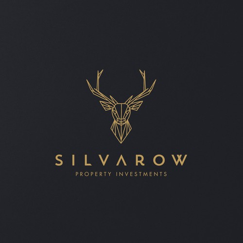 Deer head logo with the title 'Modern Logo Design for Property Investements Company'