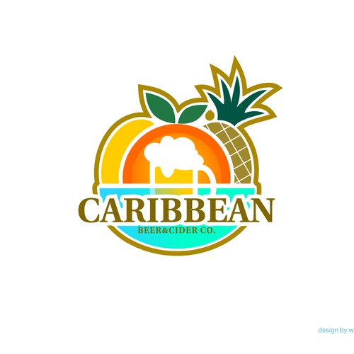 Fruit brand with the title 'Logo design for Caribbean Beer & Cider Co.'