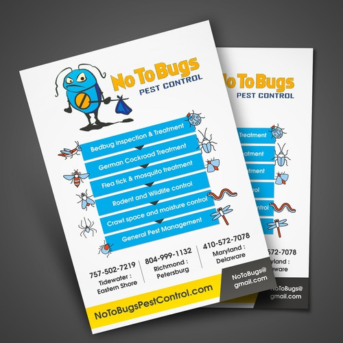 Pest control design with the title 'Pest Control Flyer'