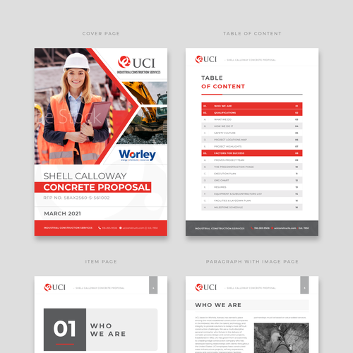 Proposal design with the title 'Proposal Template Design'