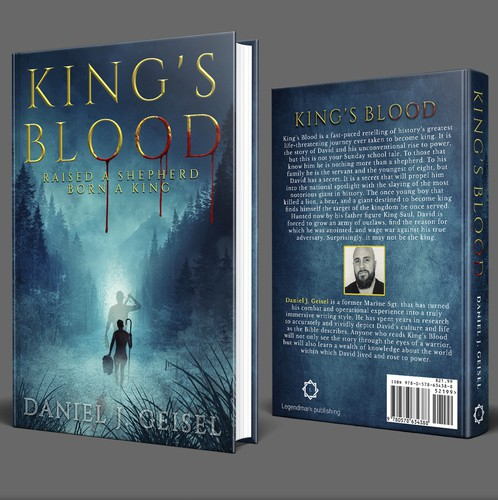Bible design with the title 'King's Blood Book Cover'
