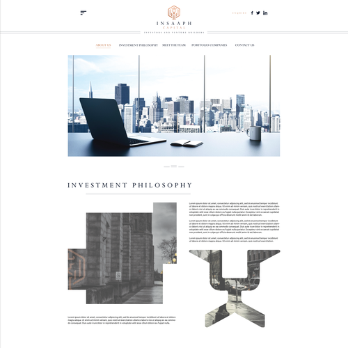 Responsive website with the title 'Website Design for Insaaph Investment Holdings'