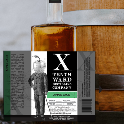 Label Design for Tenth Ward Distilling Co