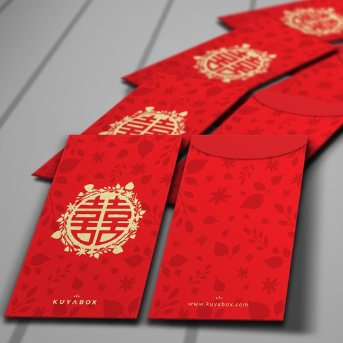 Envelope design with the title 'Traditional Envelope for Chinese Wedding'