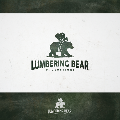 Cinematographer and cinematography logo with the title 'Lumbering Bear Productions'