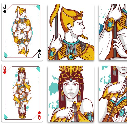 Card illustration with the title 'Playing Cards'