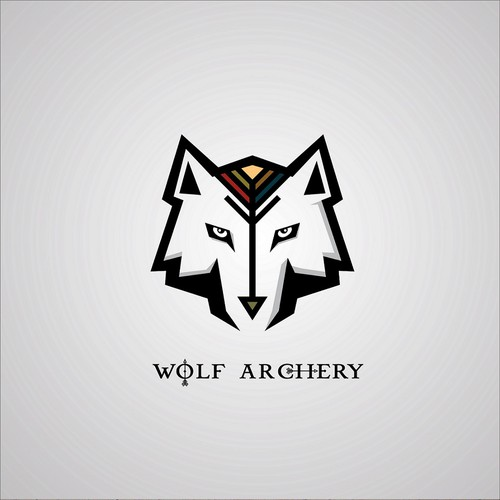 Archery logo with the title 'Wolf Archery logo concept'