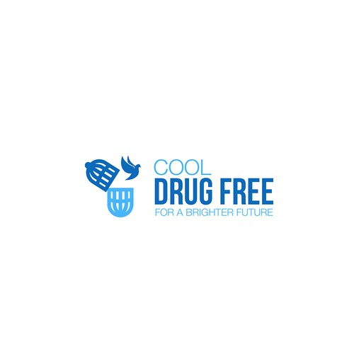 Dove design with the title 'Create a communicable and catching Drug Free PSA'
