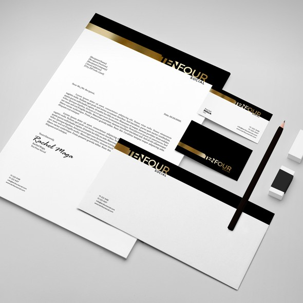 Gold and black design with the title 'MODERN,BOLD logo needed for Event Planning Business that works with pro athlete sports camp as well.'