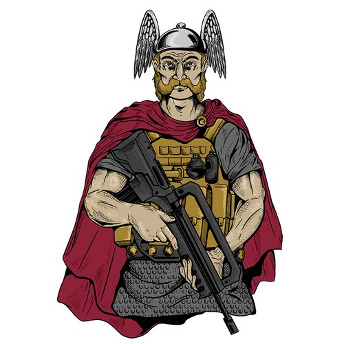 Warrior t-shirt with the title 'The Galliac Soldier'