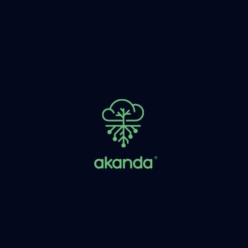 Rain design with the title 'Logo for Akanda'