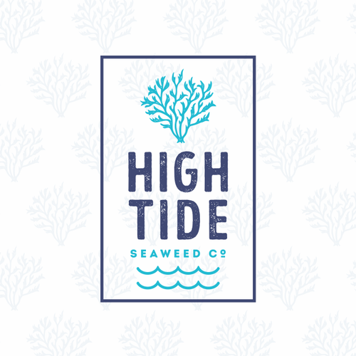 Seafood design with the title 'High Tide'