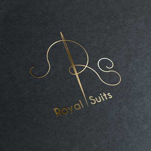 Tailor logo with the title 'Needle and Thread Logo for Suit-Makers (Tailors)'