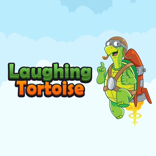 Turtle design with the title 'Friendly Turtle Mascot and Logo'