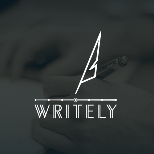 Writing logo with the title 'Writely'