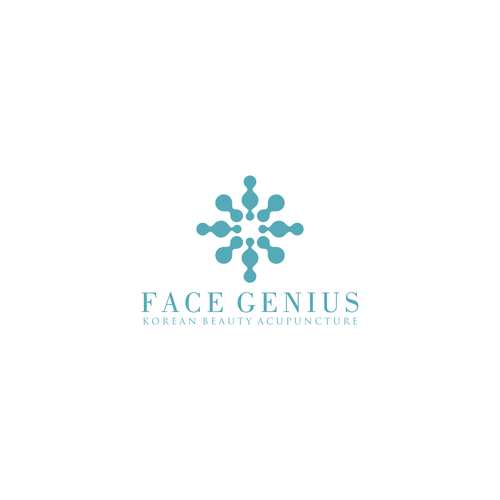 Acupuncture logo with the title 'Face Genius'