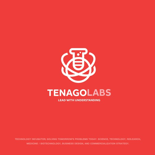 Science brand with the title 'Tenago Labs Logo'