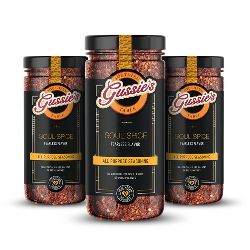 Pepper design with the title 'Spices Label'