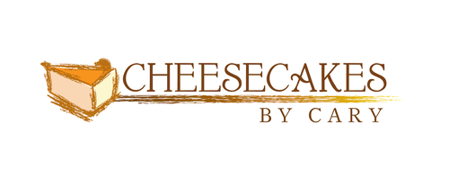 Cheesecake logo with the title 'Cheesecake Logo Rustico'