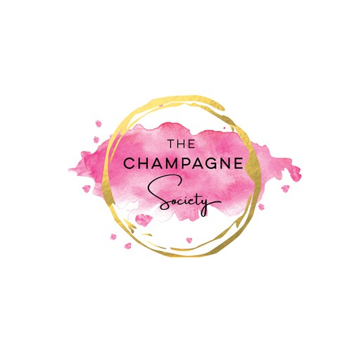 Champagne design with the title 'The Champagne Society'