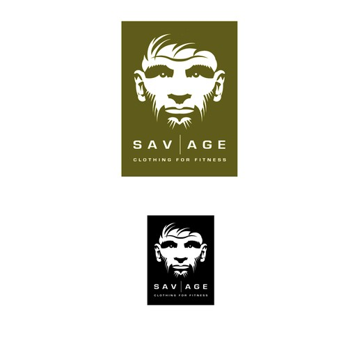 Profile logo with the title 'Savage Clothing Logo'