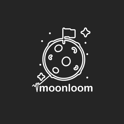Rocket ship logo with the title 'MOON LOOM'