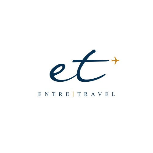 Travel agency logo with the title 'ENTRE TRAVEL'