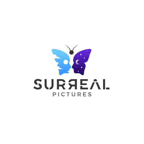 Butterfly logo with the title 'Surreal Pictures'