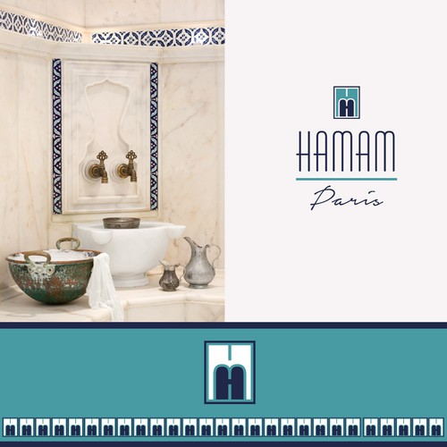 Bathtub logo with the title 'Hamam - Paris'