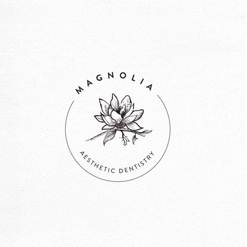 Magnolia design with the title 'magnolia Aestetic dentistry'
