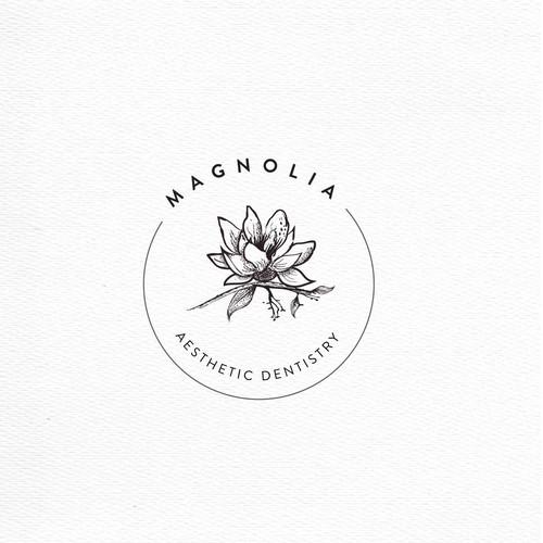 Magnolia design with the title 'magnolia Aestetic dentistry'