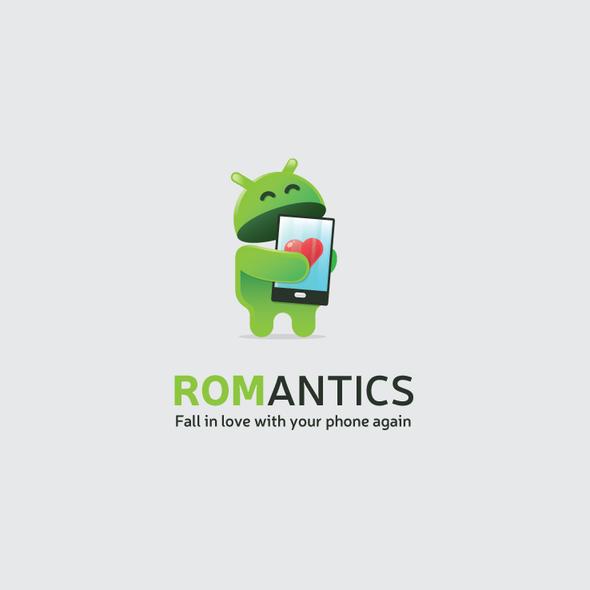 Phone logo with the title 'ROMAntics'