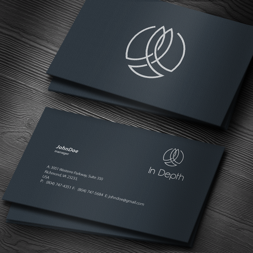 Aesthetic brand with the title 'Business & Consulting company logo'