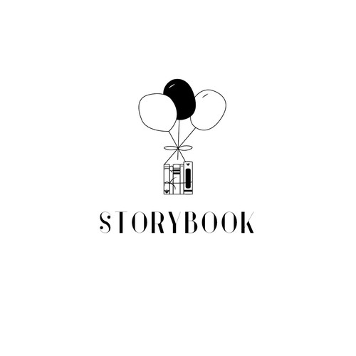 Bookstore logo with the title 'Logo for a kid store'