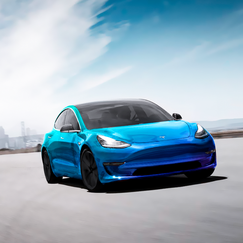 Tesla design with the title 'Look Tesla'