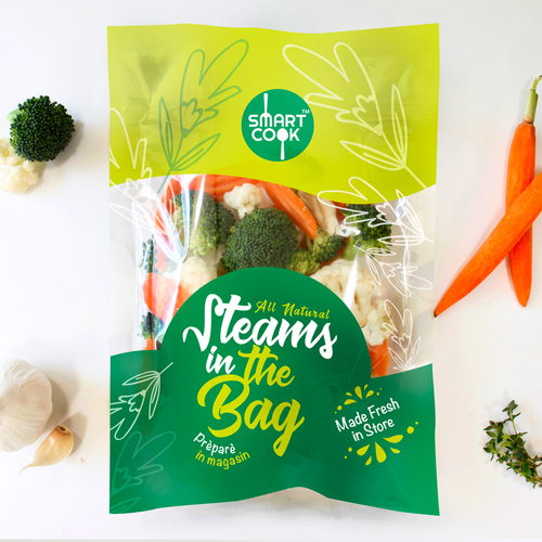 Carrot design with the title 'Vegetables Packaging'