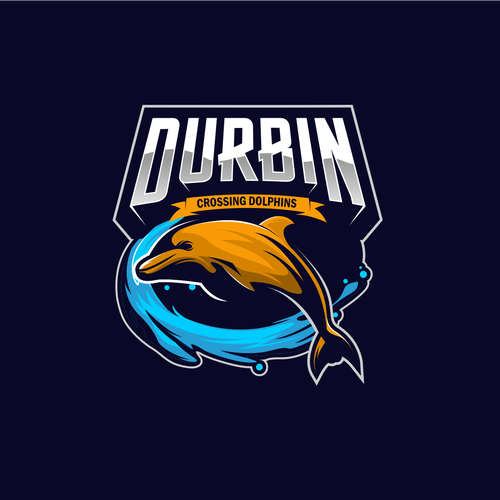 Dolphin logo with the title 'Durbin Crossing Dolphins'