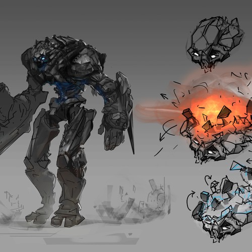 Conceptual artwork with the title 'Concept of the robot, for movie'