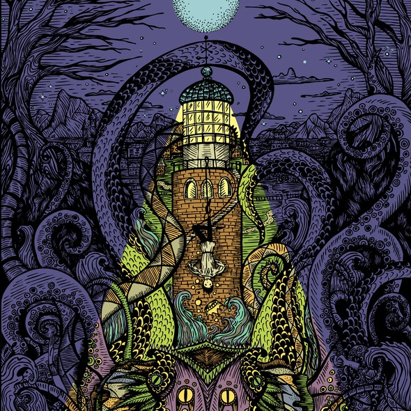 Demon illustration with the title 'The Song in the Deep'