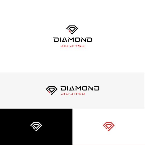 Jiu-jitsu logo with the title 'Diamond Jiu-Jitsu'